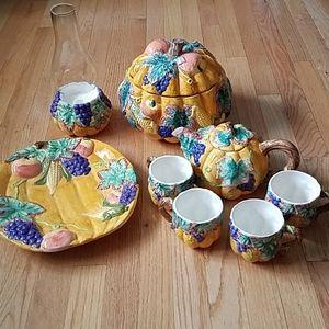 Beautiful Harvest Ceramic Table Setting